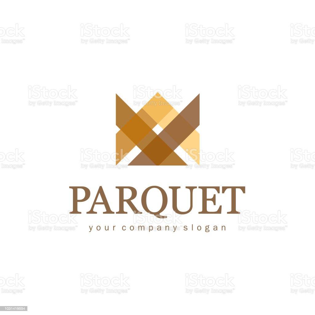 Vector design element for Parquet, Laminate, flooring. Crown sign vector art illustration