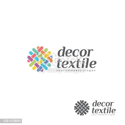 Vector design element for shop knitting, textile