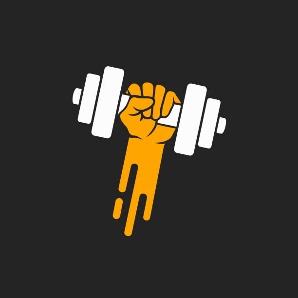 Vector design element for the fitness center vector art illustration