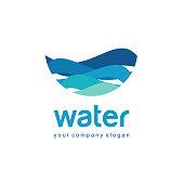 Vector design element for water and plumbing.