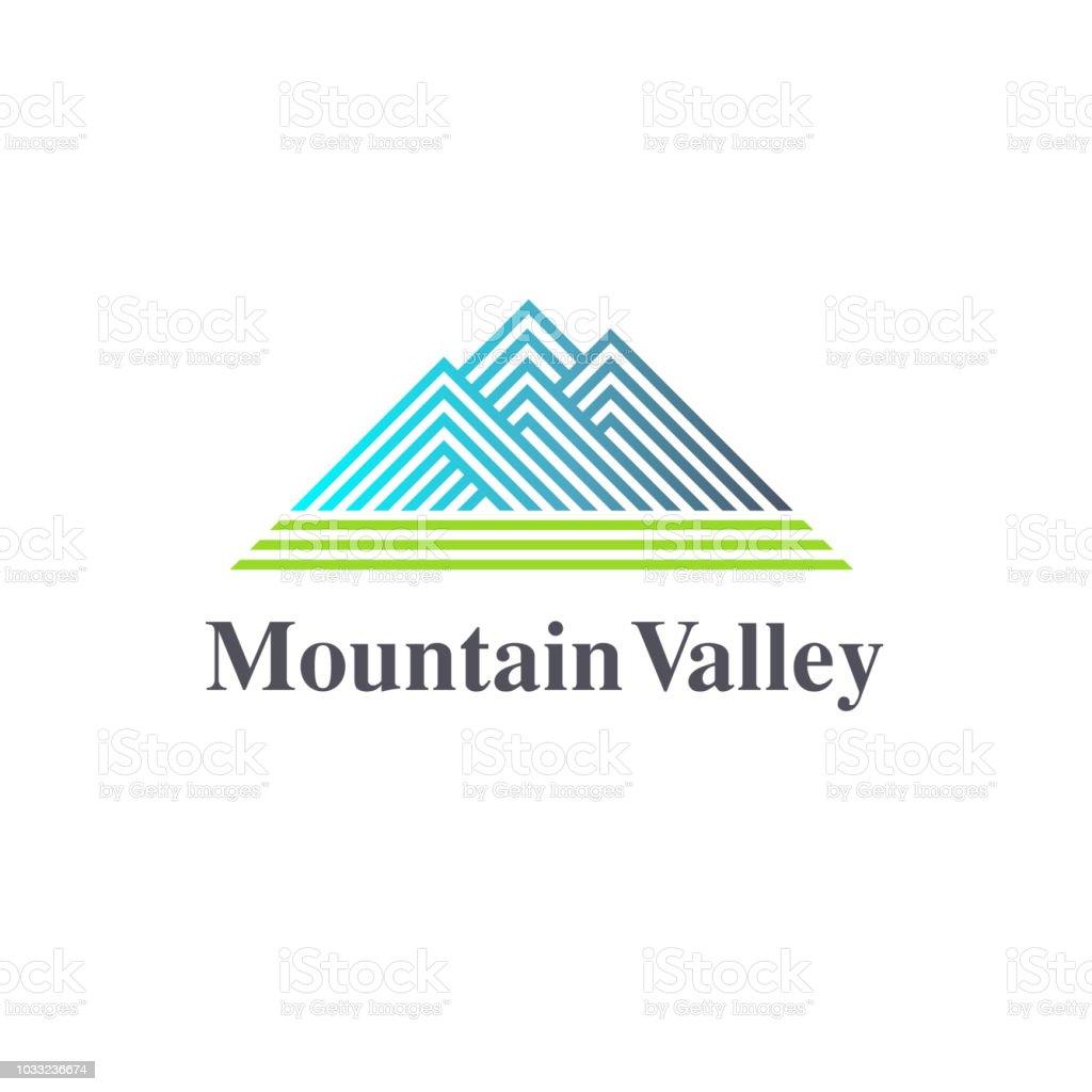 Vector design element. Mountain Valley sign vector art illustration