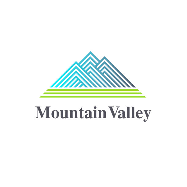 Vector design element. Mountain Valley sign Vector design element. Mountain Valley sign valley stock illustrations