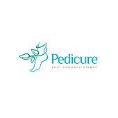 Vector design element of beauty and pedicure salon