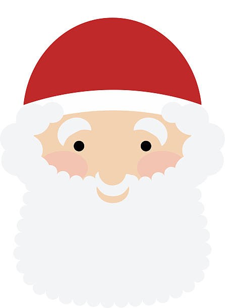 vector design element of the smiling santas face stock vector art