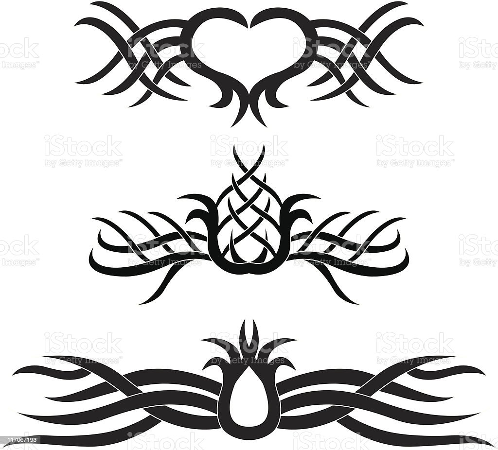 Vector design element - tattoo royalty-free vector design element tattoo stock vector art & more images of art