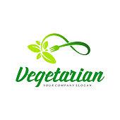 Vector design element. Vegetarian sign