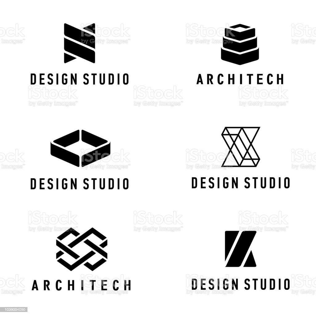 Vector design elements. Design studio and architecture company vector art illustration