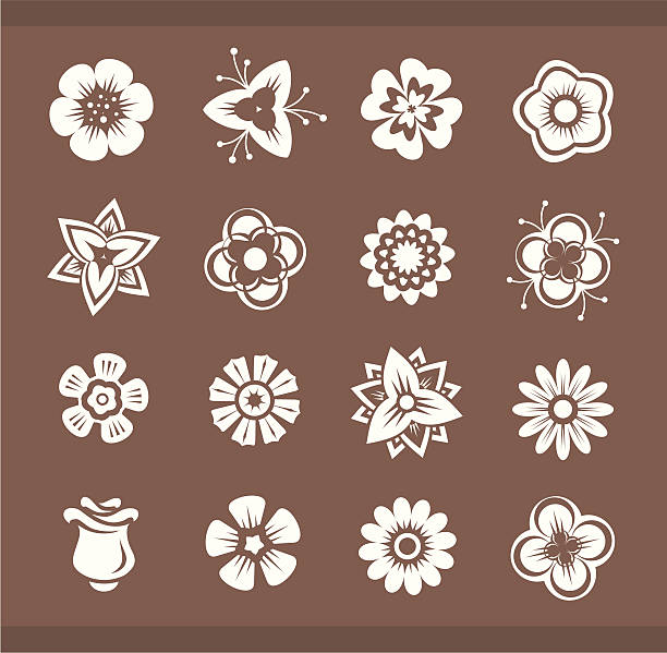 Vector design elements: Flowers vector art illustration