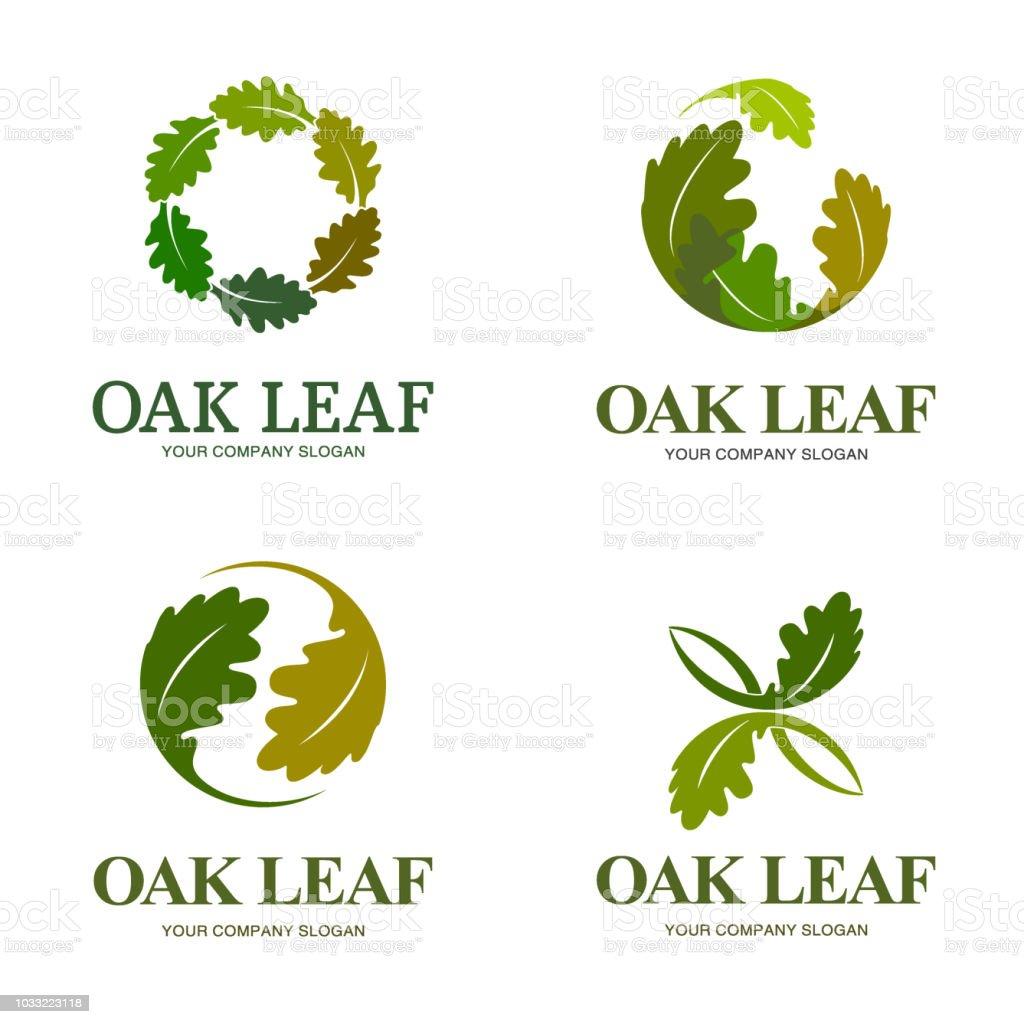 Vector design elements for business. Oak leaf