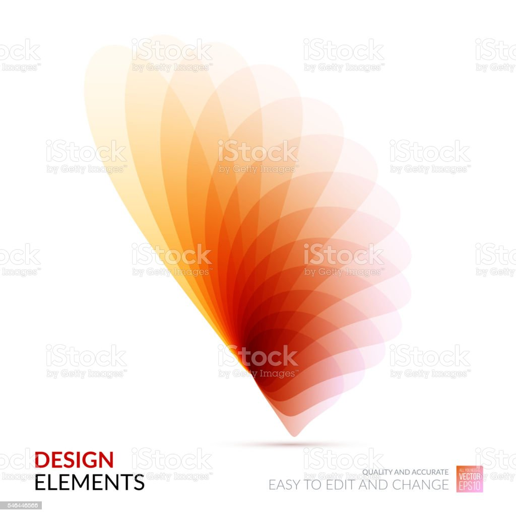 Vector Design Elements for graphic layout. Modern Abstract backg