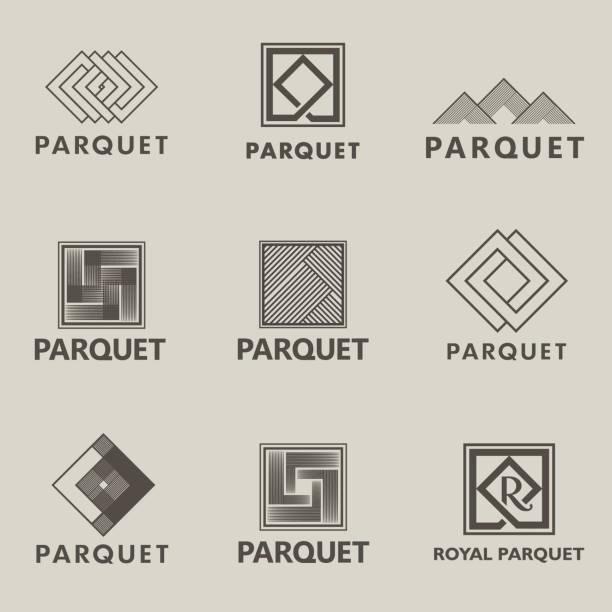 illustrazioni stock, clip art, cartoni animati e icone di tendenza di vector design elements for parquet, laminate, flooring, tiles - rombo