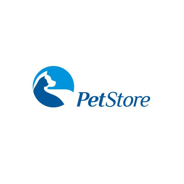 Vector design elements for pet store Vector design elements for pet store animal shelter stock illustrations