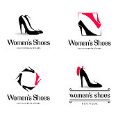 Vector design elements for shoes store