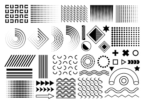 vector design elements geometric simple isolated graphic elements collection for your design projects.