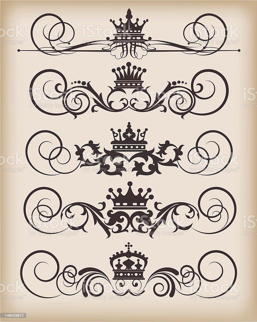 Vector Design Elements - set 27 royalty-free stock vector art