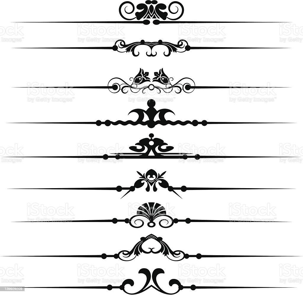 Vector Design Elements - set 42 royalty-free stock vector art