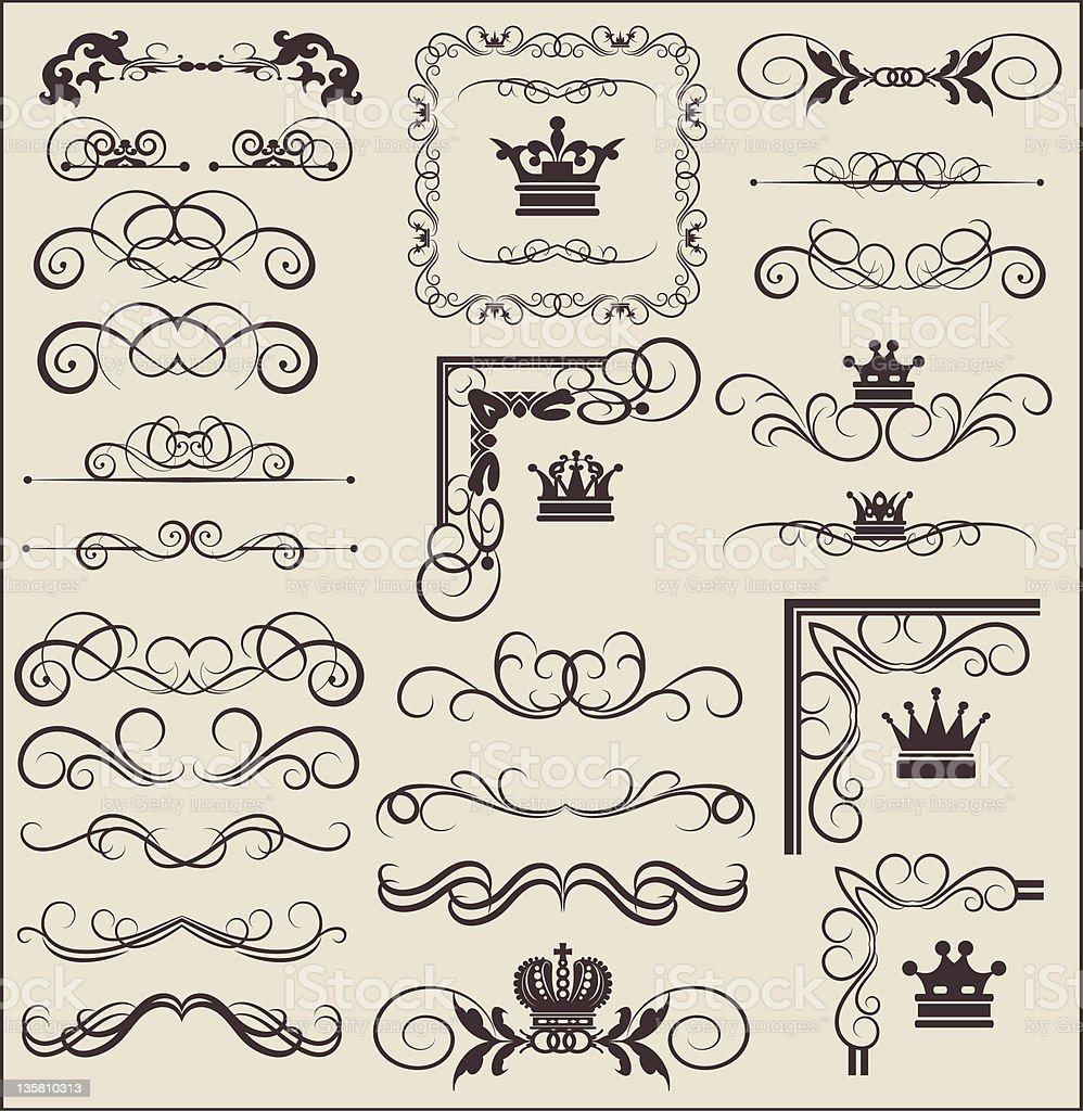 Vector Design Elements - set 6 royalty-free vector design elements set 6 stock vector art & more images of classical style