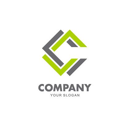 Vector design emblem sign for business. C letter icon