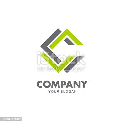 Vector design emblem for business. C letter icon