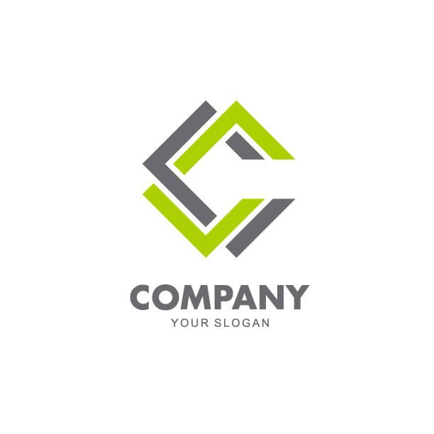 Vector design emblem sign for business. C letter icon vector art illustration