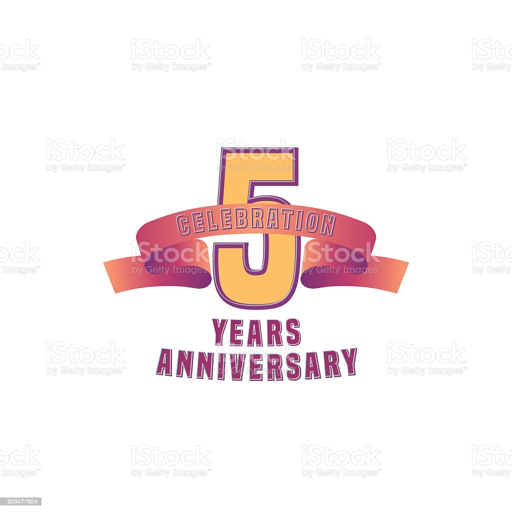 Vector design for 5 years anniversary stock vector art 523477924 birthday financial figures number number 5 symbol vector design for 5 years anniversary biocorpaavc Gallery