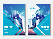Vector design for Annual Report cover. Business booklet brochure flyer.