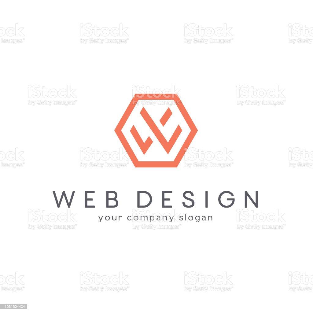 Vector design for business. Letter W vector art illustration