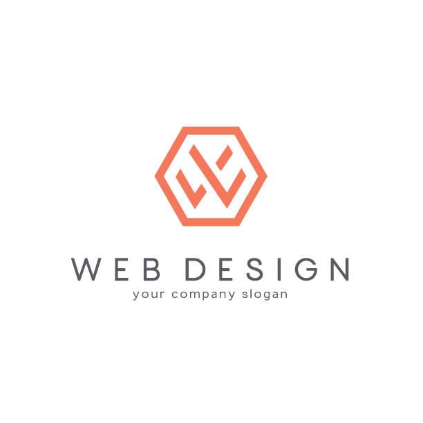 Vector design for business. Letter W Vector design for business. w logo stock illustrations