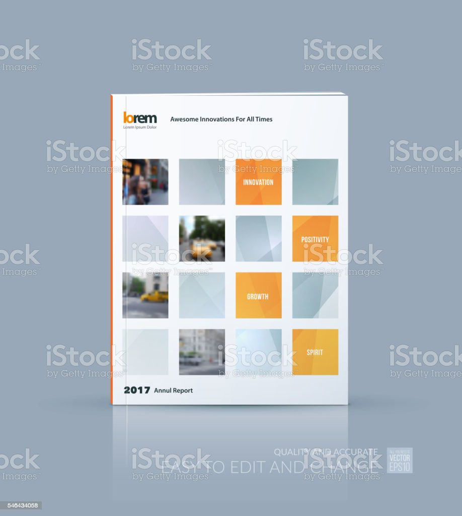 Vector design for cover annual report. Brochure or flyer templat royalty-free stock vector art