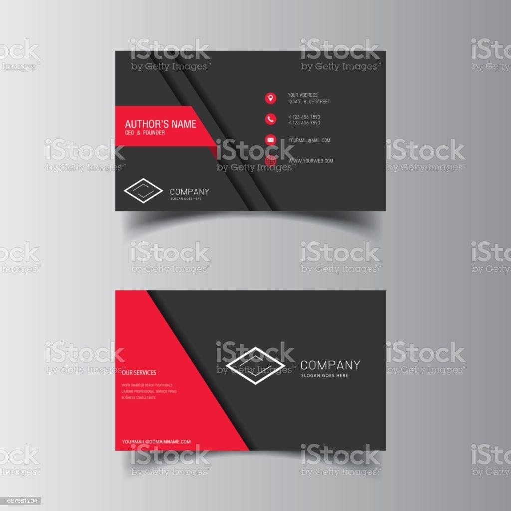 Vector Conception Formelle Rouge Moderne Carte De Visite