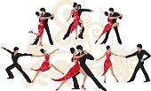 Illustration of dancers.