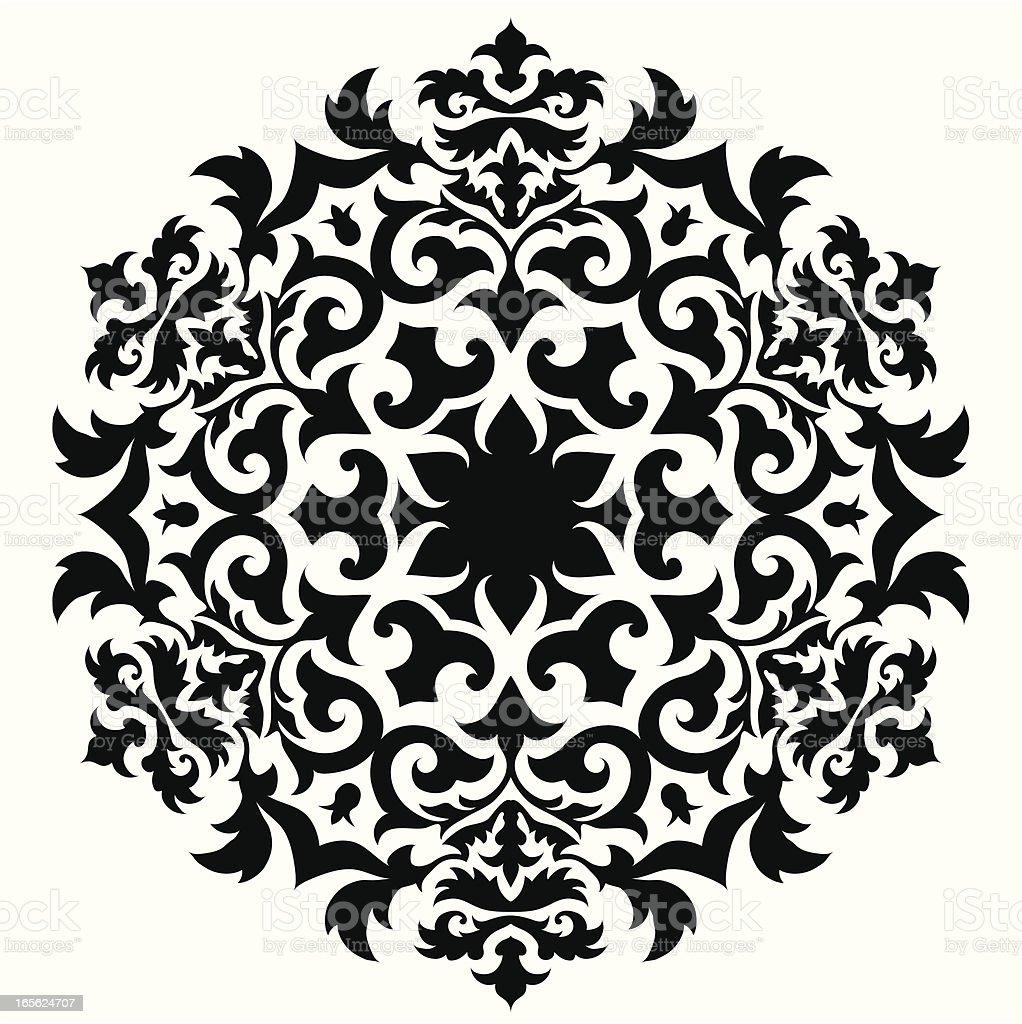 A vector design of an abstract ornament royalty-free stock vector art