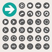 Vector design of basic arrow icons