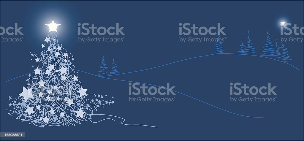 Vector design of Christmas tree made of stars royalty-free vector design of christmas tree made of stars stock vector art & more images of celebration