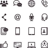 Vector design of communication icons