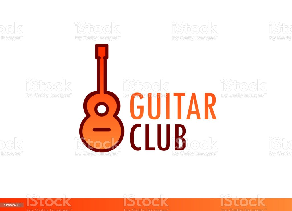 Vector Design Of Emblem For Music Club Concert Broadcasting Forum And  Social Event Stock Vector Art & More Images of Acoustic Guitar