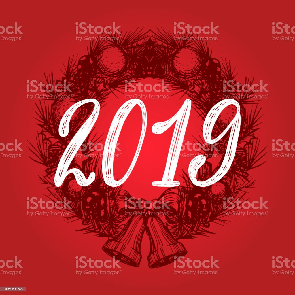 Frases Navidad 2019.Ilustracion De 2019 Diseno Vectorial De Frase Manuscrita En