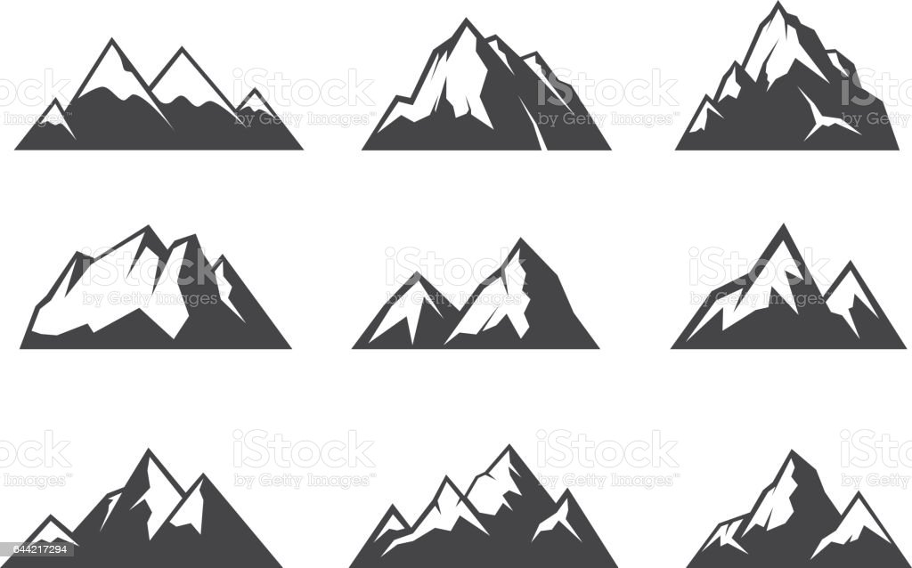 Vector design of Moutain graphic vector art illustration