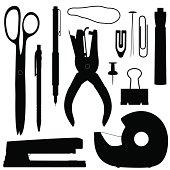 Vector design of office supplies