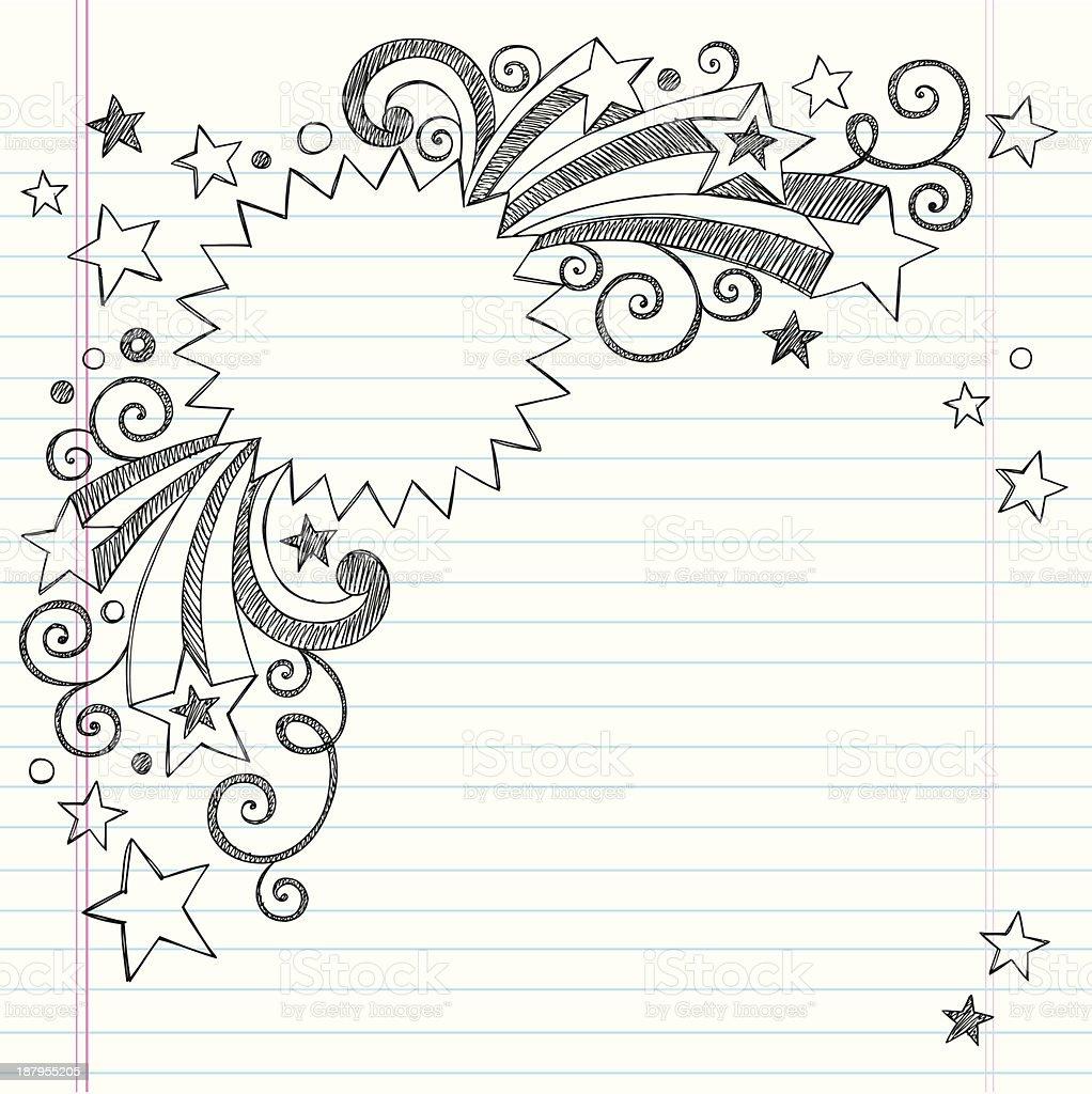 Vector Design Of Starburst Frame Notebook Drawing Stock Vector Art ...