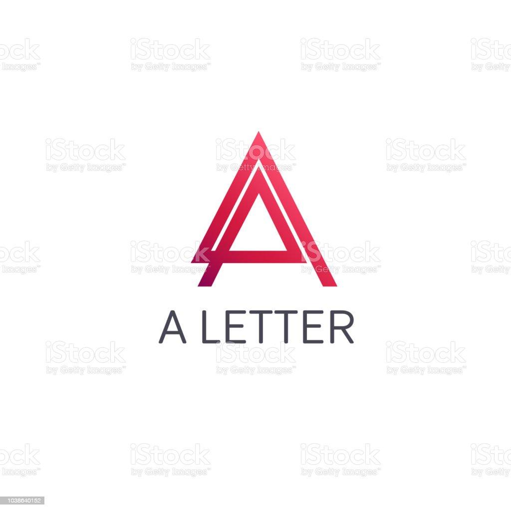Vector design template. A letter. vector art illustration