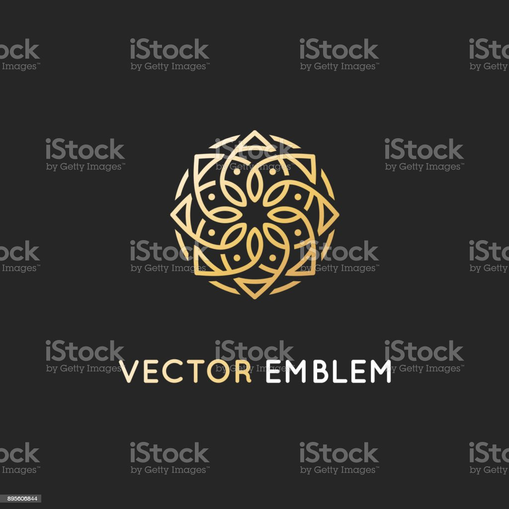 Vector  design template - abstract symbol in ornamental arabic style vector art illustration