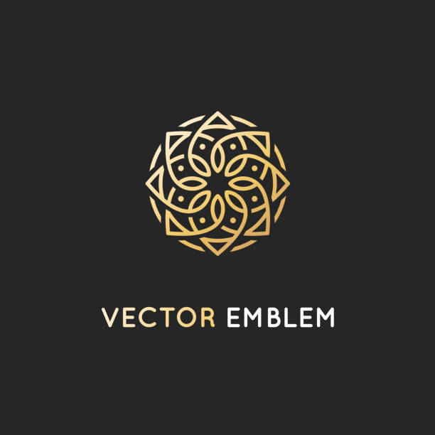 vector  design template - abstract symbol in ornamental arabic style - arab stock illustrations