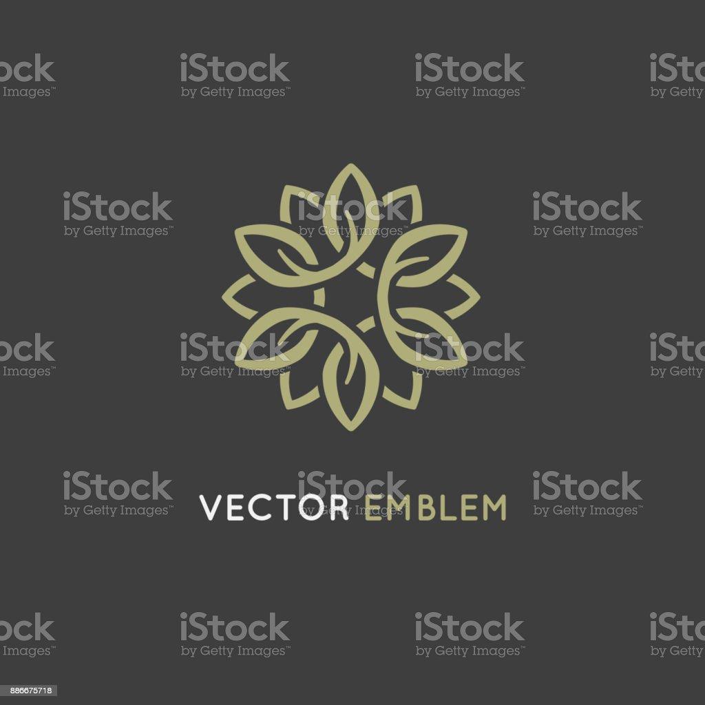 Vector design template - beauty spa concept vector art illustration