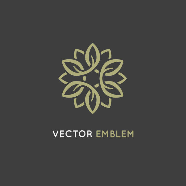 vector design template - beauty spa concept - makeup fashion stock illustrations