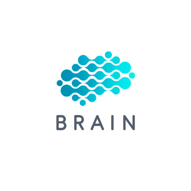 vector design template. brain sign icon - białoruś stock illustrations
