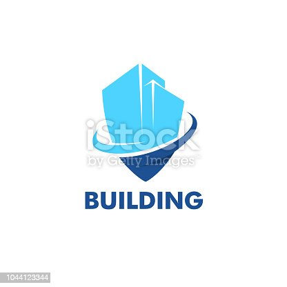 Vector design template. City secure. Building, construction, architecture.