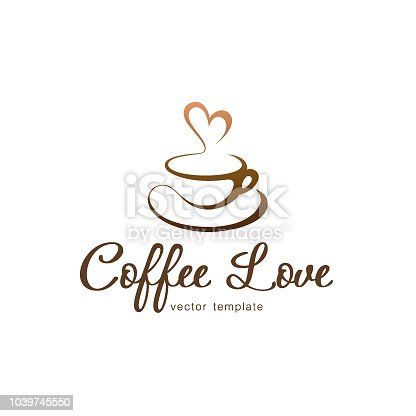Vector design template. Coffee love