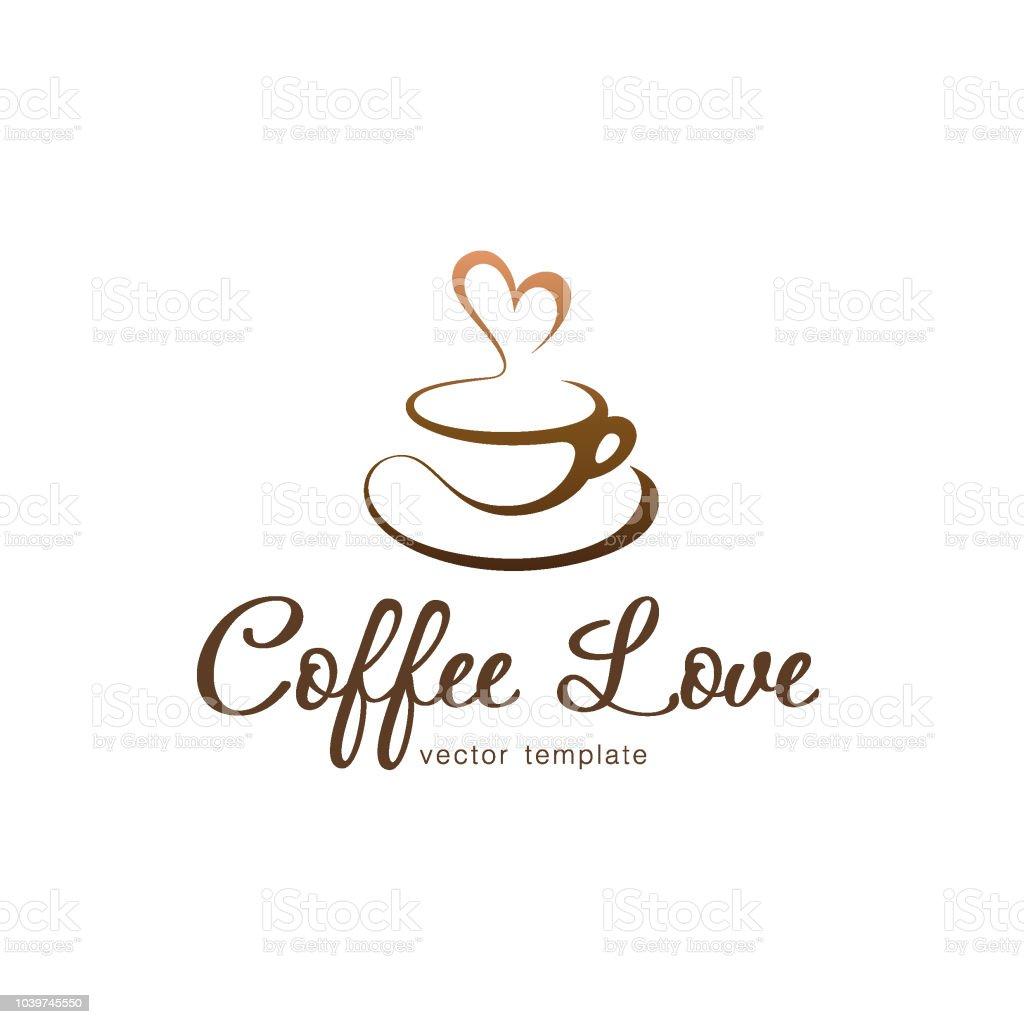 Vector design template. Coffee love vector art illustration