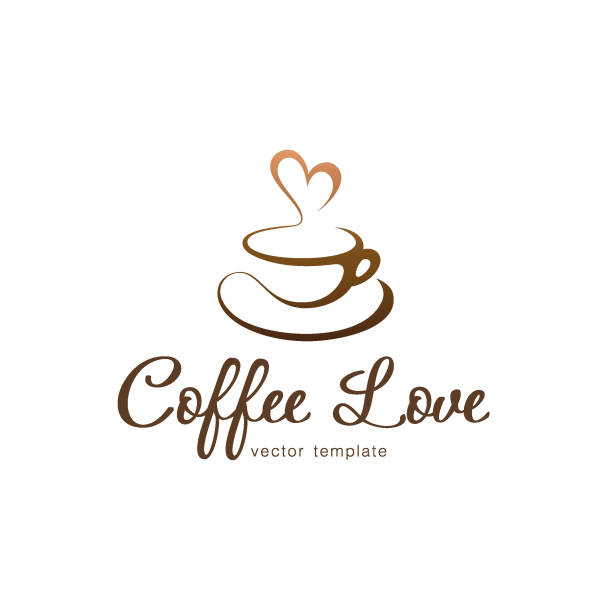 Vector design template. Coffee love Vector design template. Coffee love cafe stock illustrations